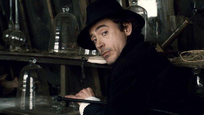 Роберт Дауни-мл. в образе Шерлока Холмса