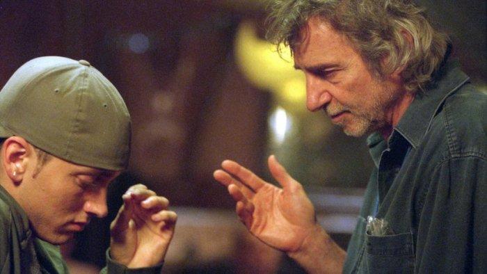 Эминем и Кертис Хэнсон на съемках фильма «8 миля» | Источник: Rex / Fotodom.ru