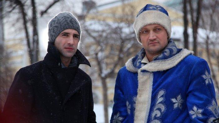 Илья Любимов и Гоша Куценко в фильме «Невидимки»