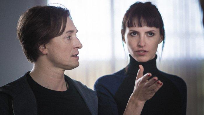 Сергей Безруков и Анна Матисон на съемках фильма «После тебя»