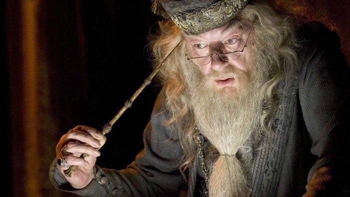 Майкл Гэмбон в роли Альбуса Дамблдора в серии фильмов о Гарри Поттере