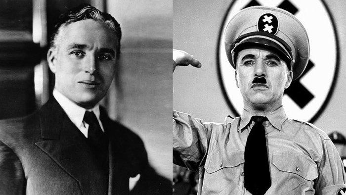 Чарльз Чаплин, 1929 год / Кадр из фильма «Великий диктатор»