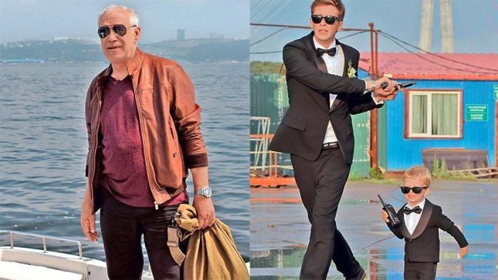 Герой Гармаша до действия проклятья / Андрей Назимов и Денис Филиппов на съемках | Источник: 7 Дней