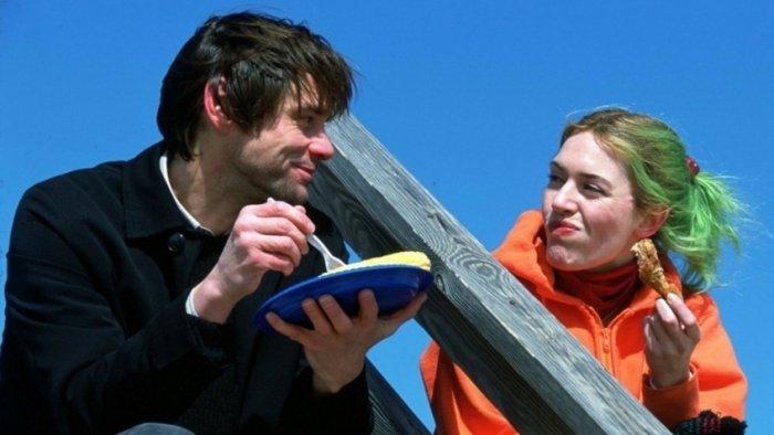Джим Керри и Кейт Уинслет в фильме «Вечное сияние чистого разума», 2004 год