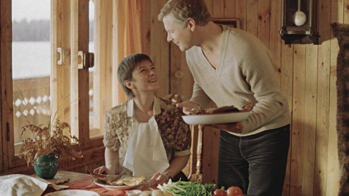 Елена Сафонова и Виталий Соломин в фильме «Зимняя вишня», 1985 год