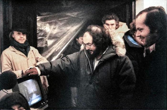 Стэнли Кубрик на съемках фильма «Сияние»