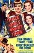 Постер «Three Girls About Town»