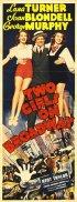 Постер «Две девушки на Бродвее»